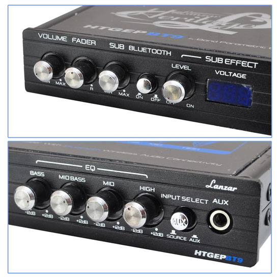 Lanzar HTGEPBT9 Heritage Series 4-Band EQ Parametric Equalizer with Bluetooth Thumbnail 6