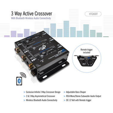 Lanzar HTGX6BT Heritage Series 3-Way Active Crossover X-Over 12v with Bluetooth Thumbnail 3