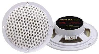"Pyramid MDC6 5.25"" Marine 100w Dual Cone WaterProof Boat Patio Stereo Speakers Thumbnail 1"