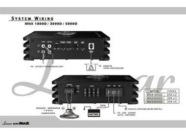 Lanzar MNX Compact 1800w MonoBlock Car Subwoofer Power Amplifier Mono Sub Amp Thumbnail 4