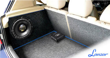 Lanzar MNX Compact 1800w MonoBlock Car Subwoofer Power Amplifier Mono Sub Amp Thumbnail 6