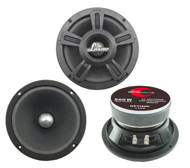 "Lanzar Opti Mid Bass Driver 6.5"" 4 Ohm 500w In Car Audio Subwoofer Sub Woofer Thumbnail 1"