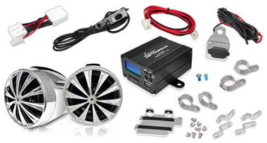 Motorbike Scooter Bike Handlebar Speakers Radio And Amplifier System MP3 IPOD Thumbnail 1