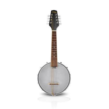 PYLE PBJ20 8-String Mandolin-Banjo Hybrid with White Jade Tuner Pegs, Rosewood Fretboard, 23'' Total Length Thumbnail 1