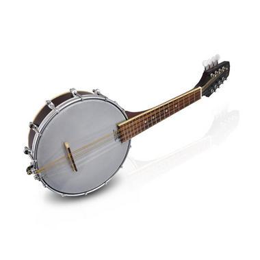 PYLE PBJ20 8-String Mandolin-Banjo Hybrid with White Jade Tuner Pegs, Rosewood Fretboard, 23'' Total Length Thumbnail 2