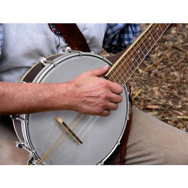 PYLE PBJ20 8-String Mandolin-Banjo Hybrid with White Jade Tuner Pegs, Rosewood Fretboard, 23'' Total Length Thumbnail 4