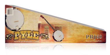 Pyle PBJ60 5 String Banjo w/ Chrome Plated Hardware Rosewood & Mohogany Thumbnail 6