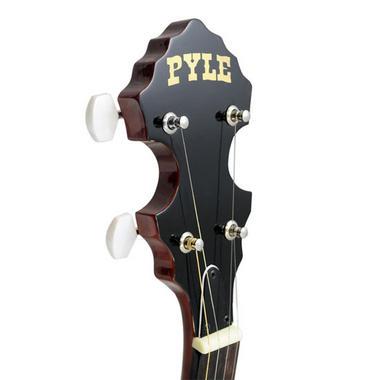 Pyle PBJ60 5 String Banjo w/ Chrome Plated Hardware Rosewood & Mohogany Thumbnail 3