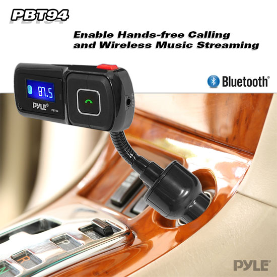 Car Audio Stereo Bluetooth FM Transmitter & MP3 Player USB, SD Card, 3.5mm Input Thumbnail 3