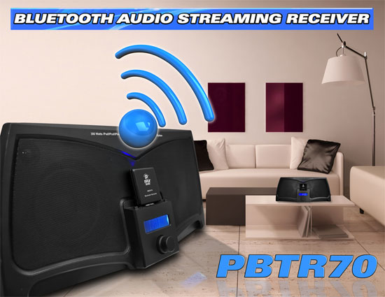 Pyle PBTR70 Bluetooth A2DP Audio Adapter Receiver 30-Pin Apple Connector Dock Thumbnail 4