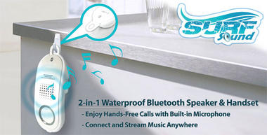 Pyle PBTWP24BK Surf Sound 2-in-1 WaterProof Bluetooth Wireless Speaker Handset Thumbnail 5