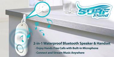 Pyle PBTWP24WT Surf Sound 2-in-1 WaterProof Bluetooth Wireless Speaker Handset Thumbnail 5