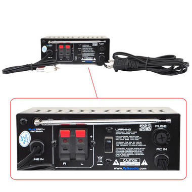 Pyle PCA12BT 2 x 25W Bluetooth Stereo Power Amplifier AUX-In USB Charge Port Thumbnail 4