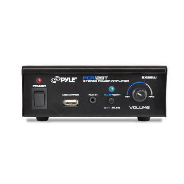 Pyle PCA12BT 2 x 25W Bluetooth Stereo Power Amplifier AUX-In USB Charge Port Thumbnail 3