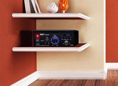 Pyle PCAU25A 2 x 40 Watt Stereo Power Amplifier USB/SD AUX Player & Remote Thumbnail 5