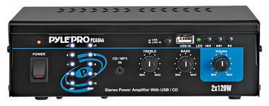 Pyle Pro Home DJ IPOD IPHONE Stereo Hifi Party Mini USB Amplifier Amp System Thumbnail 1