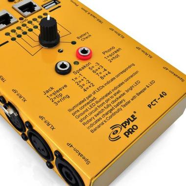 Pyle-Pro PCT40 12 Plug Pro Audio Cable Tester Thumbnail 5