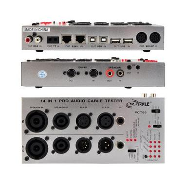 PYLE-PRO PCT60 13 in 1 Audio Cable Tester (1/4-Inch, 1/8-Inch, XLR, Speakon, RCA, RJ45, USB-A/B, TT, Bantam, DIN) Thumbnail 2