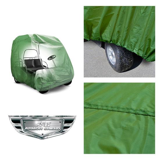 PyleSports PCVGFCT60 Armor Shield Golf Cart Storage Cover 2 Passenger Olive Thumbnail 2