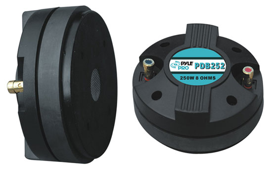 """Pyle PDB252 1.5"""" Aluminum Horn Bolt On Compression Driver Tweeter 8 Ohm 500w Thumbnail 1"""