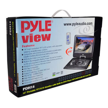 "Pyle-Home PDH14 14""Portable Tft/Lcd Monitor W/ Dvd Thumbnail 8"