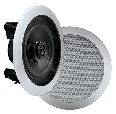 Pyle PDIC51RDSL In-Wall / In-Ceiling Dual 5.25-inch Speaker System, 2-Way, Flush Mount, Silver (Pair) Thumbnail 1