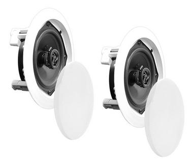 PyleHome PDIC81RD In-Wall/Ceiling 8-inch Speaker System, 2-Way Flush Mount White Thumbnail 4