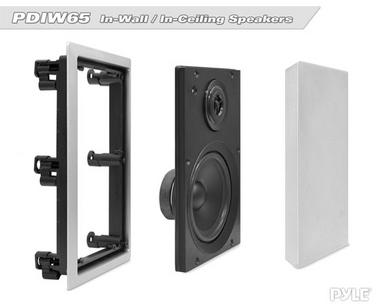Pyle PDIW65 6.5'' Two-Way In-Wall Speaker System Pair White Ceiling Built-In Thumbnail 3