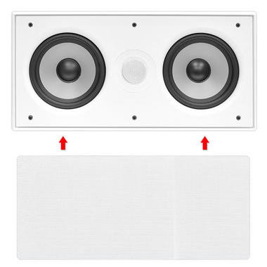 """In Wall Surround Sound Stereo Hi Fi Home Cinema Centre Speaker Twin 5.25"""" 8ohm Thumbnail 3"""