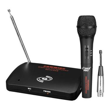 Pyle Pro VHF DJ Party Karaoke Wireless Or Wired Handheld Microphone System Thumbnail 1