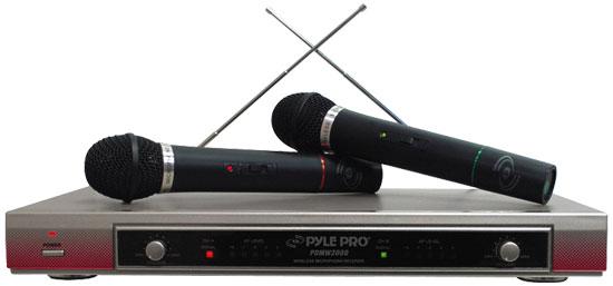 PYLE-PRO PDWM2000 - Dual VHF Wireless Microphone System Thumbnail 1