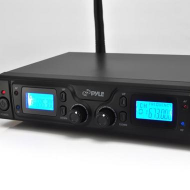 Pyle PDWM3365 2 Channel UHF Wireless Microphone System 2 Lavalier 2 Headsets Thumbnail 4