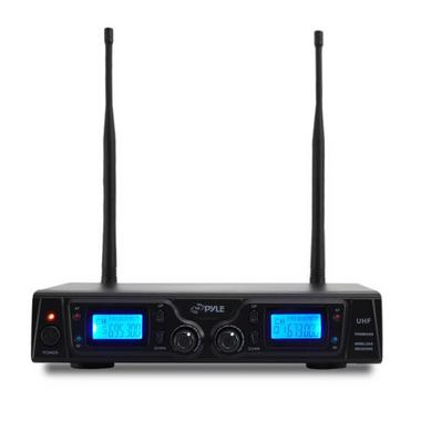 Pyle PDWM3365 2 Channel UHF Wireless Microphone System 2 Lavalier 2 Headsets Thumbnail 2