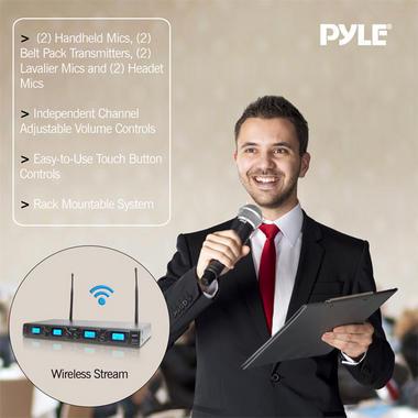 PYLE-PRO PDWM4350U 4 Channel UHF Mic system Thumbnail 6