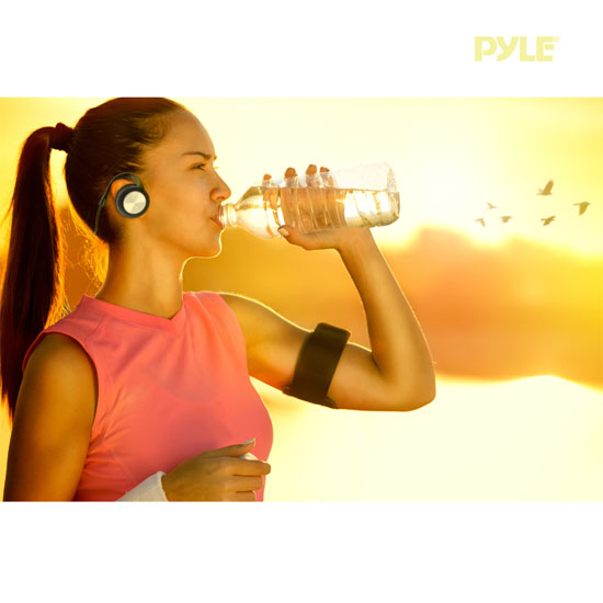 Pyle PHBT3E Bluetooth Sports Flex Headphones with Wrap Around Flexible Band and Built-In Mic Thumbnail 6