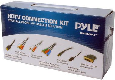 Pyle PHDMIKT1 HDTV Audio/Video Cable Kit Compatible w/ Plasma LCD/LED/DLP/DVD Thumbnail 2
