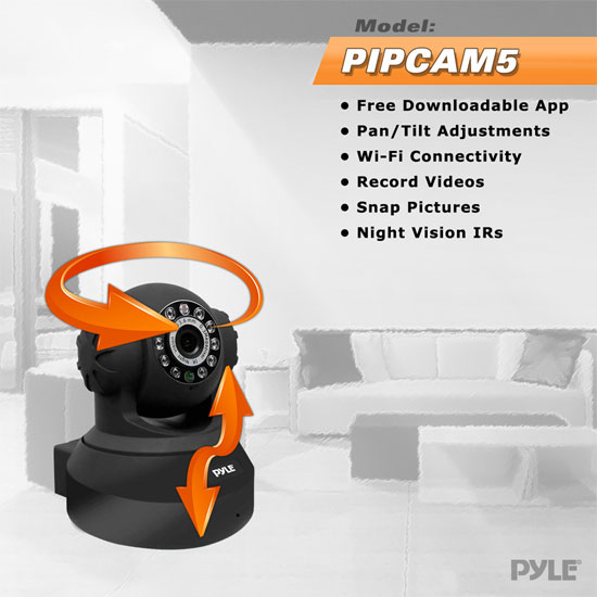 PYLE-HOME PIPCAM5 0.3 MP WIRELESS IP NETWORK CAMERA Thumbnail 5
