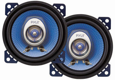 "Pyle Blue 4"" 10cm 100mm 180w Coaxial Two Way Pair Car Door Dash Shelf Speakers Thumbnail 1"