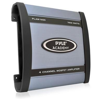 Pyle Academy 4 Ch Four Channel 1600w Blue Bridgeable Car Speaker Amplifier Amp Thumbnail 1