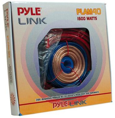 Pyle PLAM40 60A 4 Gauge AWG Power & Earth Amplifier Wiring Kit Set With 5m RCA Thumbnail 1