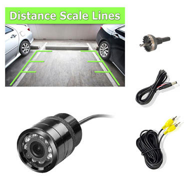 Pyle PLCM22IR Flush Surface Mount Universal Rear View Camera IR Night Vision Thumbnail 1