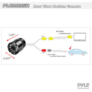 Pyle PLCM22IR Flush Surface Mount Universal Rear View Camera IR Night Vision Thumbnail 3