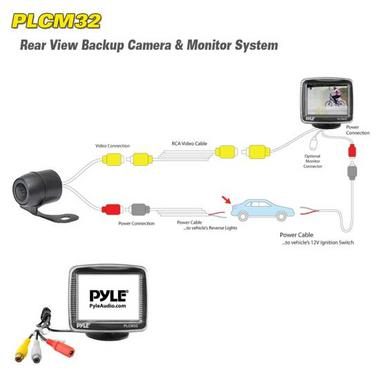 "Pyle PLCM32 3.5"" Universal Mount Rear View and Backup Distance Line Camera Thumbnail 2"