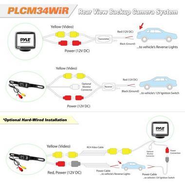 "Pyle PLCM34WIR 3.5"" Monitor Wireless Backup Rearview Night Vision Camera Kit Thumbnail 3"