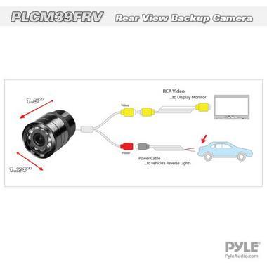 Pyle PLCM39FRV Universal Mount Car Rear & Front View TV Video Camera Kit Thumbnail 3