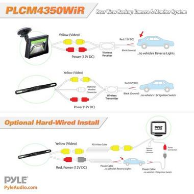 Pyle PLCM4350WIR 4.3'' Monitor Wireless Back-Up Rearview & License Plate Camera Thumbnail 4