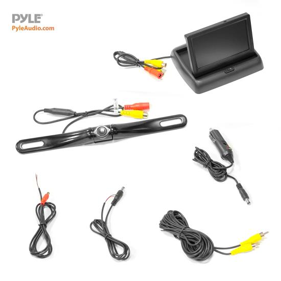 "Pyle PLCM4500 Reversing Camera 4.3"" Inch Pop-Up Monitor With Rear View Camera Thumbnail 3"