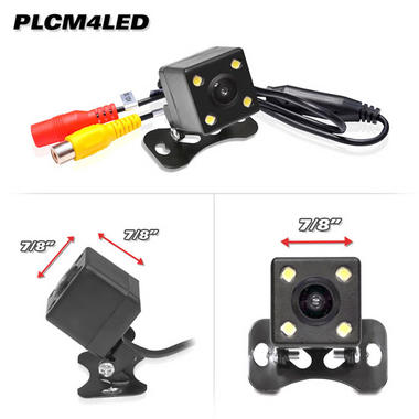 Pyle PLCM4LED Rear View Back Up Reversing Camera 12v 0 Lux Night Vision Thumbnail 2