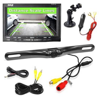 "Pyle 7"" WindScreen Suction Mount Monitor Rear View Reversing Reverse Camera Set Thumbnail 1"