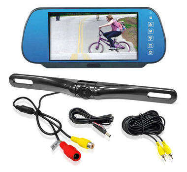 "Pyle PLCM7800 7"" Rear View TFT Mirror Monitor With Numberplate Reverse Camera Thumbnail 1"